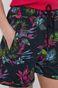 Bawełniane szorty damskie z wzorzystej dzianiny