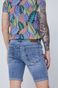 Szorty męskie jeansowe z przetarciami niebieskie