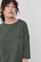 T-shirt damski oversize z bawełny organicznej zielony