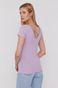 T-shirt damski w prążki różowy