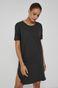 Bawełniany t-shirt damski z rozcięciem czarny
