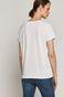 T-shirt damski EVIVA L'ARTE  z bawełny organicznej biały