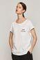 T-shirt damski z bawełny organicznej NIE PYTAJ biały