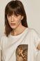T-shirt damski z bawełny organicznej biały