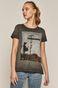 T-shirt damski Banksy's Graffiti szary