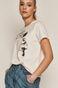 T-shirt damski Banksy's Graffiti biały