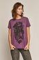 T-shirt damski by Tomasz Podleśny, Tattoo Art fioletowy