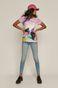 T-shirt damski Projekt: Rower różowy