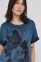 T-shirt damski by Magdalena Parfieniuk turkusowy