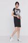 Długi t-shirt damski z bawełny organicznej czarny
