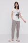 T-shirt damski z bawełny organicznej z dekoltem V biały