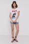 T-shirt damski z bawełny organicznej z nadrukiem Bob Dylan biały