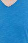 Bawełniany t-shirt męski z dekoltem w serek niebieski
