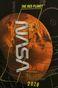 T-shirt męski z nadrukiem NASA czarny