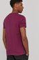 T-shirt męski z bawełny organicznej by Bartek Bojarczuk fioletowy