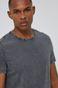 T-shirt męski z efektem acid wash szary