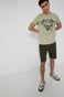 T-shirt męski z bawełny organicznej zielony