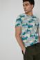 T-shirt męski z bawełny organicznej turkusowy