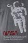 T-shirt męski z nadrukiem NASA szary