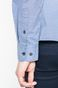 Bawełniana koszula męska w drobny wzór granatowa