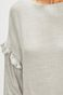 Bluzka damska szara z falbaną