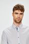 Koszula męska slim biała wzorzysta