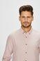 Koszula męska różowa wzorzysta z miękkim kołnierzykiem button-down