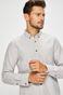 Koszula męska szara wzorzysta z miękkim kołnierzykiem button-down