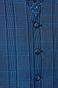 Kamizelka męska w kratkę niebieska