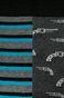 Skarpety męskie w pistolety i paski (2-pack)