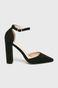 Sandały damskie czarne na obcasie