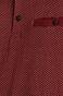 Polo męskie wzorzyste bordowe