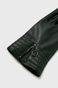 Rękawiczki damskie czarne ze skóry ekologicznej