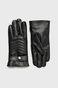 Rękawiczki męskie czarne ze skóry ekologicznej
