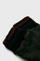 Rękawiczki męskie z łączonych materiałów czarne