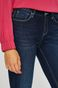 Jeansy damskie skinny granatowe ze spranego denimu
