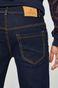 Jeansy męskie regular granatowe z gładkiego denimu