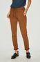 Spodnie damskie brązowe z dopasowaną nogawką