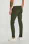 Spodnie męskie zielone o prostym fasonie