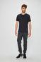 Spodnie męskie czarne wykończone ściągaczami