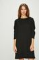 Sukienka damska czarna z ozdobnymi marszczeniami