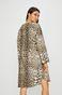 Sukienka damska w panterkę z okrągłym dekoltem
