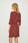 Sukienka damska czerwona wzorzysta