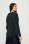 Sweter damski turkusowy z warkoczowym splotem
