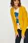 Kardigan damski luźny żółty