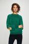 Sweter damski zielony z okrągłym dekoltem