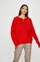 Sweter damski czerwony z domieszką wełny