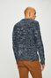 Sweter męski gruby z domieszką wełny niebieski