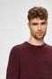 Sweter męski bordowy cienki z okrągłym dekoltem