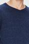 Sweter męski granatowy ze szpiczastym dekoltem